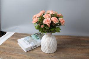 Фарфоровые вазы, керамическая ваза ручной работы, гофрированный белый цветок воды большего размера
