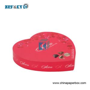 Patrón impreso corazón -forma Don chocolate dulce Caja de papel de embalaje
