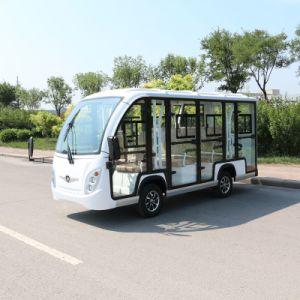 11 lugares da tensão da bateria 48V Electric Sightseeing Car
