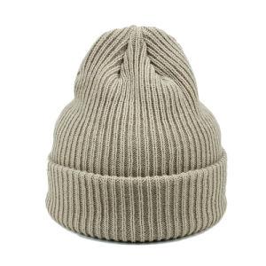 カスタムラベルが付いている卸し売りブランクニットの帽子