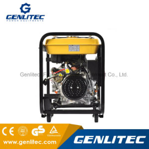 Resfriado a ar de arranque eléctrico de cilindro único gerador diesel de 6 kw