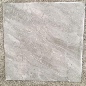 De grijze Volledige Verglaasde Opgepoetste Tegel van het Porselein van Inkjet Marmeren voor Vloer & Muur