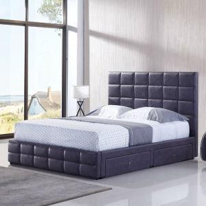 Un estilo moderno con cama de cuero suave Trasteros