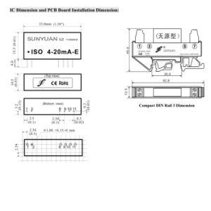 0-5V aan 4-20mA Lijn Aangedreven Convertor met 3kv Isolatie