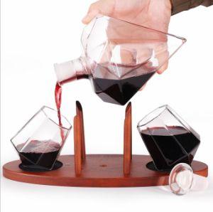 Alta qualidade superior forma de diamantes de borossilicato dispensador de garrafas de vinho