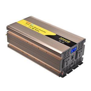 3000W/3KW 12V/24V/48V DC para AC 110V/120V/220V/230V onda senoidal pura Solar Inversor de Potência