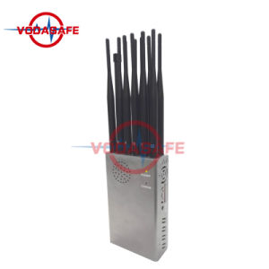 12 antennes Portable 2G 3G/4G/WiFi/cellule 5.8G Smart Signal de téléphone Mobile Jammer Blocker avec10000mAh Batterie