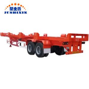Mehrfache Option Terminalkanal-Behälter-Chassis-halb Schlussteil 20/40/45 FT-40-80t