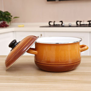 3pcs ustensiles de cuisine de haute qualité de gros de l'émail Marmite Set
