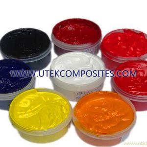 Pasta de color de plástico reforzado con fibra de vidrio.