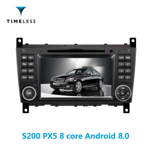 Timelesslong S200 Plataforma Android 8.0 2DIN AUTO-RÁDIO LEITOR DE DVD para Mercedes Benz W203 (2004-2007) com Carplay (TID-W093)