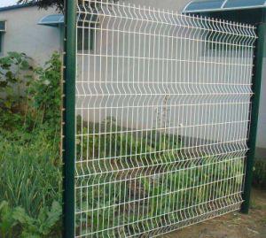 2D o 3D de curvas hacia la valla de malla soldada