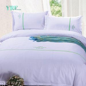 Yrfの卸し売り高級ホテルのリネン最高のホテルの寝具はホテルの麻布シートをセットする