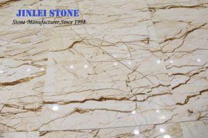 平板のためのSofitelの磨かれた自然な石造りの金か金黄色い大理石か壁または床タイルまたは背景