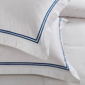 ヨーロッパのSize王の100%年の綿の白い200tcによって刺繍される寝具(JRD769)