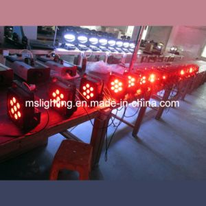 Plat LED PAR/Luz de estágio 7*10W1 Multi-Color RGBW 4no sistema de luz de LED