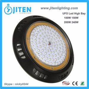100W-240W 130lm/W LED de alta de la luz de la Bahía de OVNIS para talleres