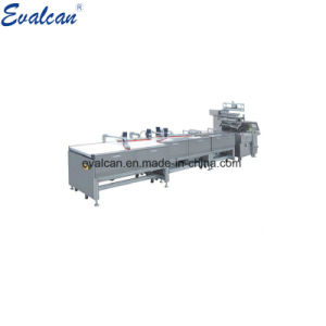 Automatique des plaques à gâteau en papier jetables horizontal plat oreiller Machine d'emballage de débit