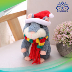 크리스마스 아이들 선물을%s 전기 말하는 햄스터 소리 기록 견면 벨벳 햄스터에 의하여 채워지는 장난감
