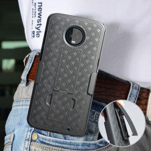 黒く堅いプラスチック織り方パターンベルトクリップが付いているMoto Z3の演劇のためのコンボのホルスターの電話箱