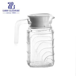 0.5L小さい正方形のガラス水差し水飲む水差し(GB1102BF-1)