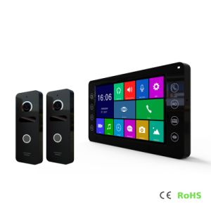 HDのメモリホームセキュリティーの7インチの通話装置のビデオドアの電話インターホン