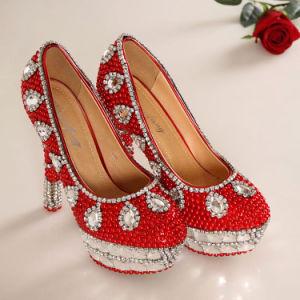 Boda moda zapatos de tacón alto diamantes