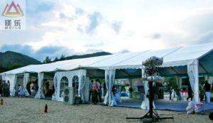 屋外の結婚式のイベント党アルミニウム玄関ひさしのカーブのテント