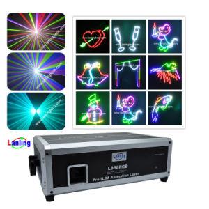 L3000Cores RGB Ilda luz laser, iluminação de palco