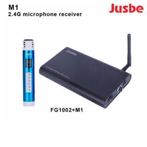 M1 Pro Audio 2.4G transmissores e receptores de microfone sem fios