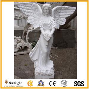 Hete Snijdende Dame Figure van de Steen van de Verkoop Natuurlijke voor de Decoratie van de Tuin