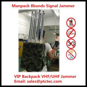 2015 nuevo y poderoso Jammer portátil VHF/UHF Jammer Mochila Jammer militar