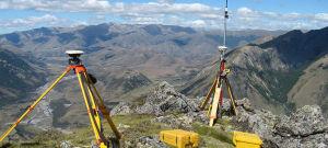 A base de dados de GPS RTK Rover e com a navegação de função