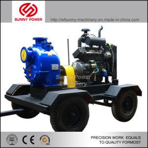Diesel de 6 pulgadas de la bomba de agua para riego/Proyecto Municipal con remolque