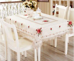 Lino Hemstitch Tapa de la mesa