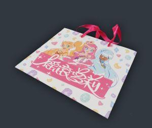 習慣によって印刷される漫画カラー買物をする紙袋