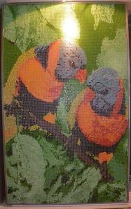 Hermosas flores en la decoración de mosaico Mosaico