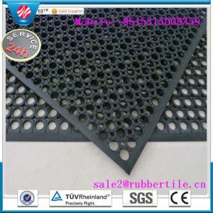 スリップ防止Anti-Fatigueゴム製台所床のマット、排水のゴム製フロアーリングのマット