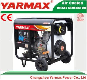 Yarmax 공기에 의하여 냉각되는 단 하나 실린더 디젤 엔진 열린 구조 디젤 엔진 발전기 세트 Genset Ym8500ea