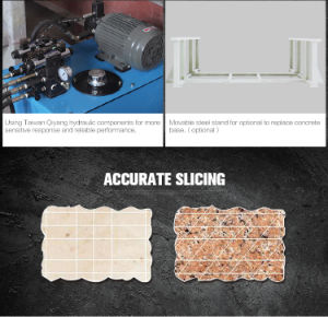 Puente láser cortador de baldosas de granito, mármol y piedra caliza de maquinaria de corte borde para cortar la losa