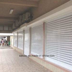 Rodillo de comercial de la puerta de aluminio perforado (SKCD-C01).