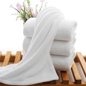 도매 100%년 면 보통 백색 테리 목욕탕 수건 (JRD023)