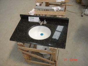 Parte superiore di marmo di pietra naturale della cucina del granito
