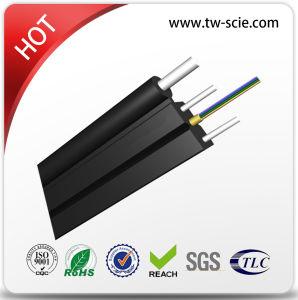 1 ou 2 Core queda FTTH Self-Suporting antena de cabo de fibra óptica