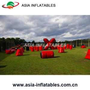 6 Mans bunkers de Paintball infláveis
