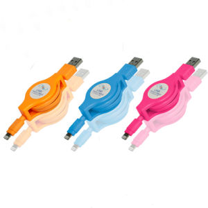 Втягивающийся кабель от воздействий молнии синхронизации данных зарядки для iPhone X 8 7 6