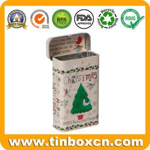 Repujado de estaño metal personalizado de menta para Candy Gum Caja de almacenamiento