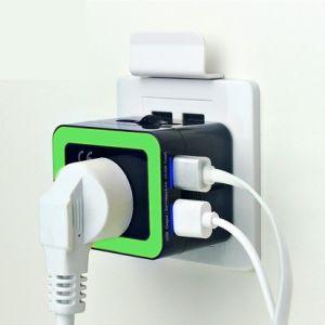 cargador de viaje universal con doble puerto USB 2.4A para Smartphones