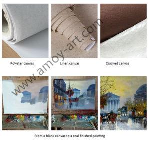 Wall DecorのためのハンドメイドのFarm Art White Rabbit Oil Paintings