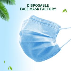 Commerce de gros Anti Virus tissu non tissé de protection 3 plis Masque facial jetable masque respirateur